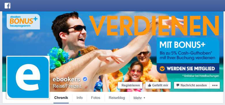 Ebookers bei Facebook