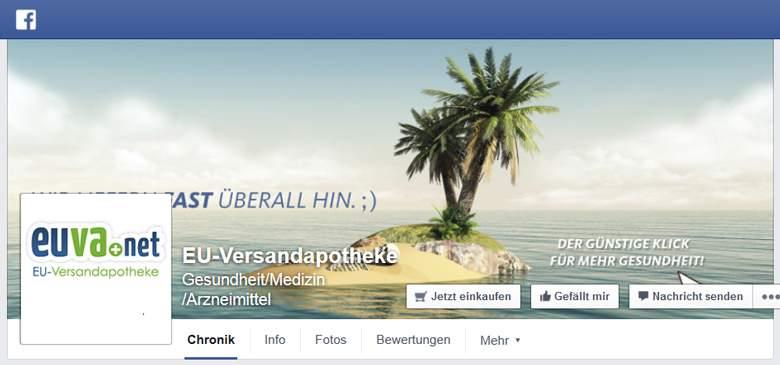 EU Versandapotheke bei Facebook
