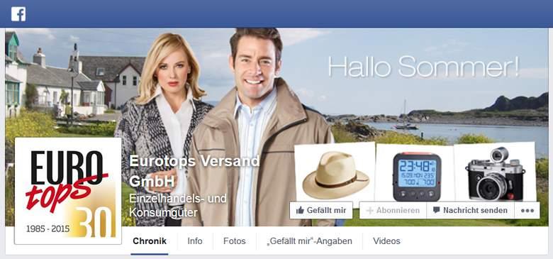 Eurotops bei Facebook