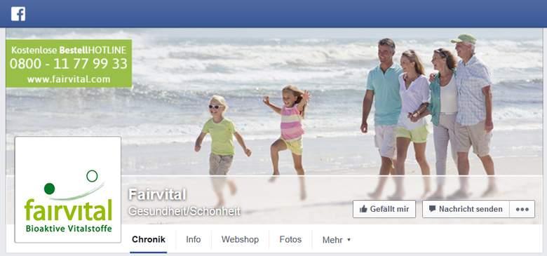 Fairvital bei Facebook