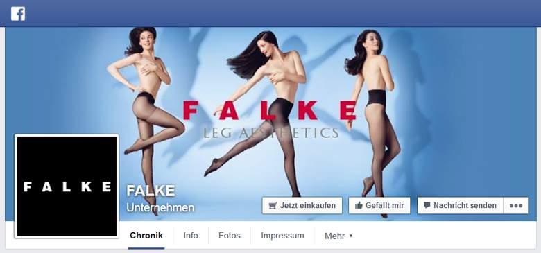 Falke bei Facebook
