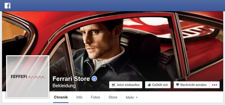 Ferrari bei Facebook