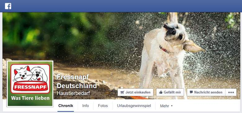 Fressnapf bei Facebook