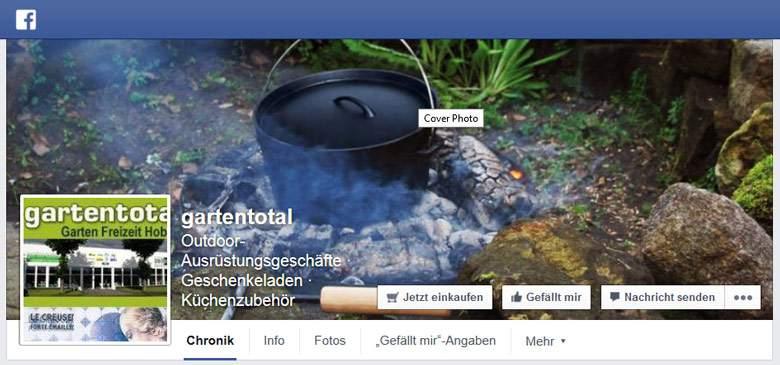 Gartentotal bei Facebook