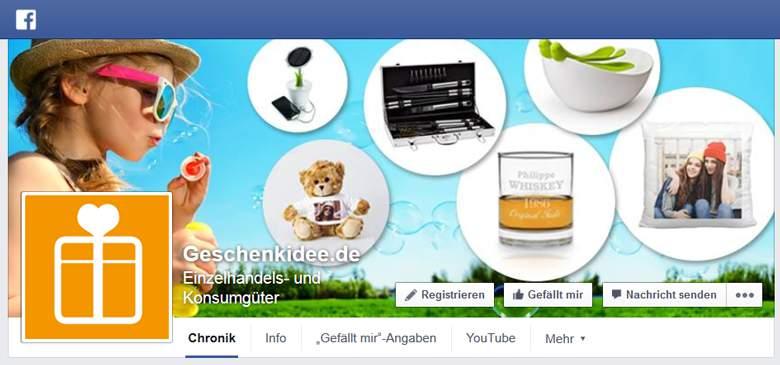 Geschenkidee bei Facebook