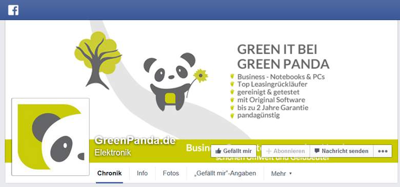 GreenPanda bei Facebook