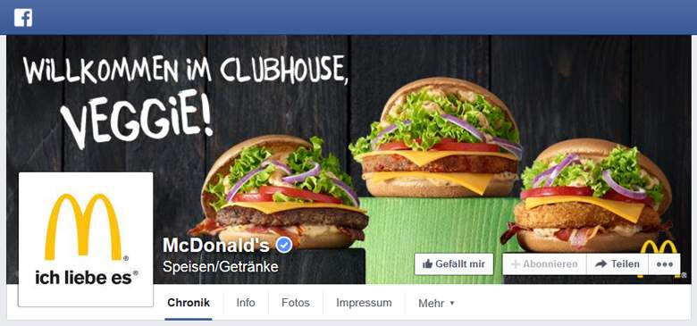 McDonalds bei Facebook