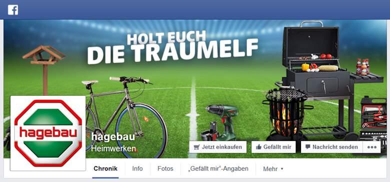 Hagebau bei Facebook