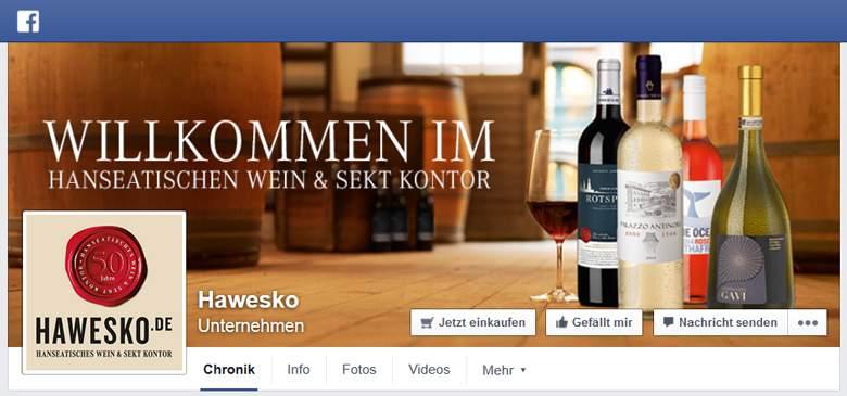 Hawesko bei Facebook