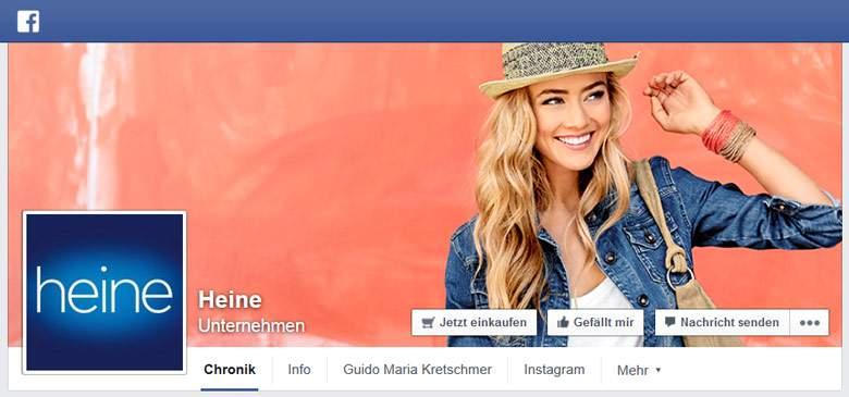Heine bei Facebook
