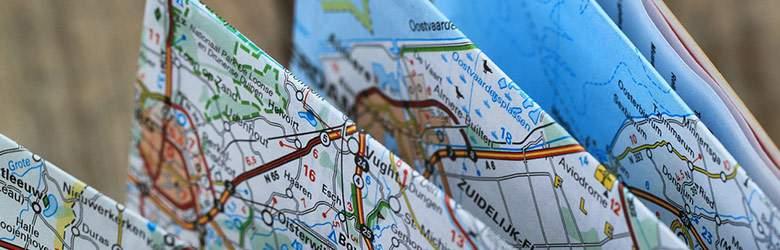 Landkarte bei Falk