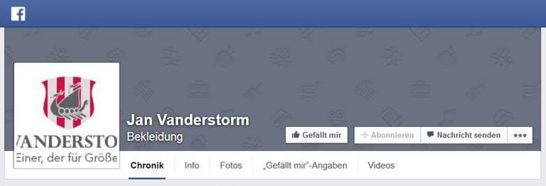 Jan Vanderstorm bei Facebook