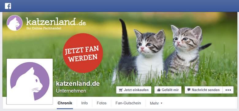 Katzenland bei Facebook