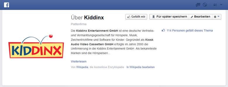 Kiddinx bei Facebook