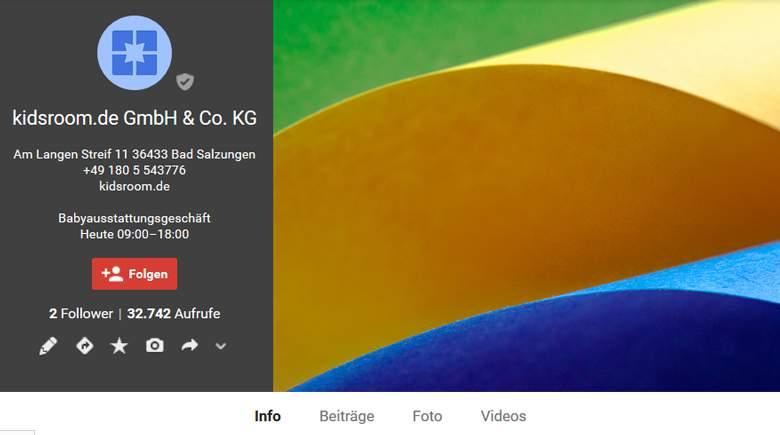 Kidsroom bei Google Plus