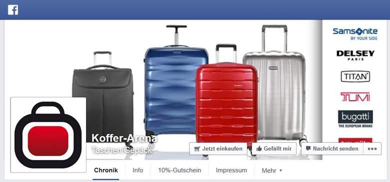 Koffer-Arena bei Facebook