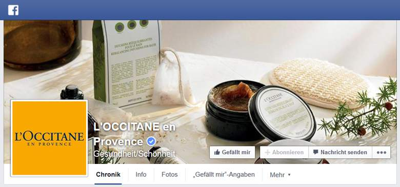 L`OCCITANE bei Facebook
