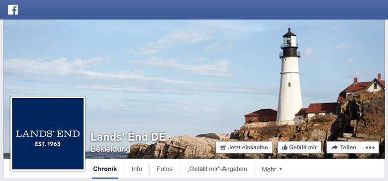 Lands End bei Facebook