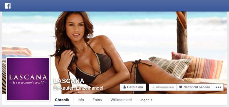 Lascana bei Facebook