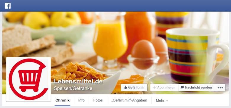 Lebensmittel.de bei Facebook