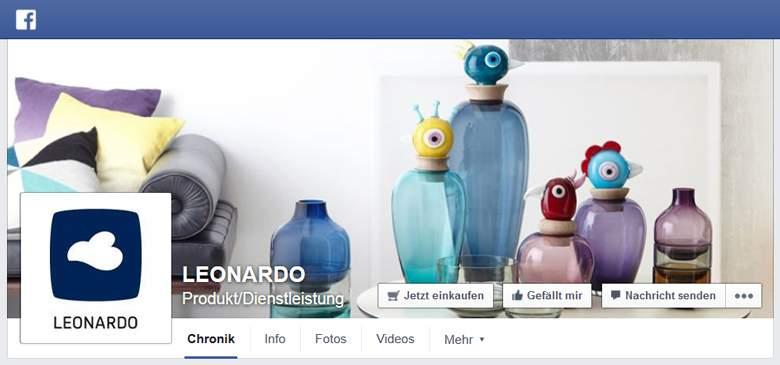 Leonardo bei Facebook