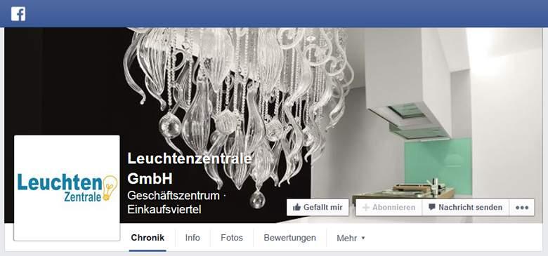 Leuchtenzentrale bei Facebook