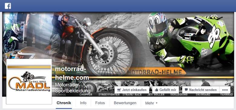 Mädl Motorradhelme bei Facebook