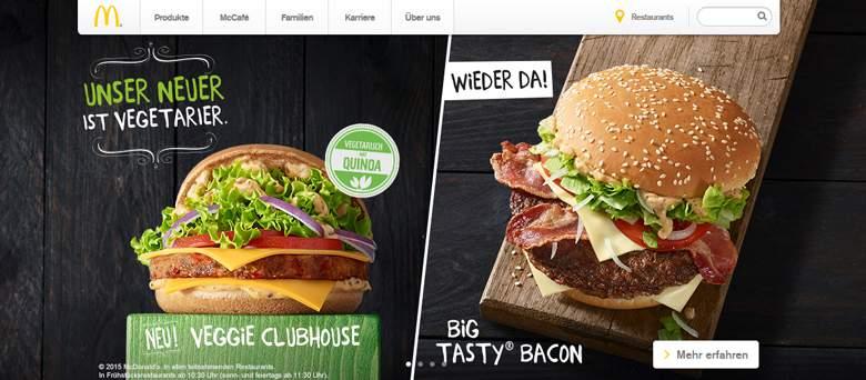 McDonalds Hauptseite