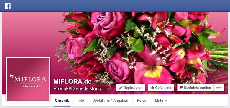 Miflora bei Facebook