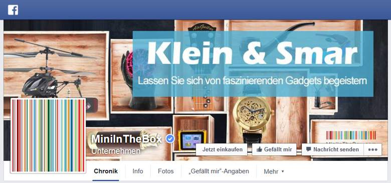 MiniInTheBox bei Facebook