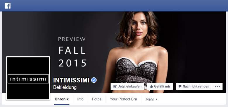 Intimissimi bei Facebook
