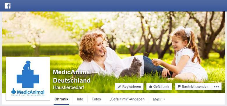 MedicAnimal bei Facebook
