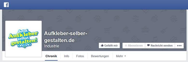 Aufkleber selber gestalten bei Facebook