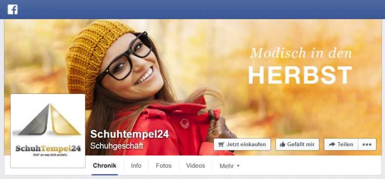 Schuhtempel24 bei Facebook