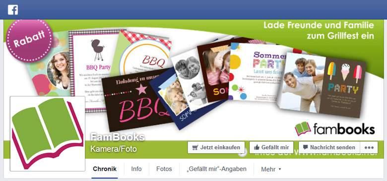 Fambooks bei Facebook
