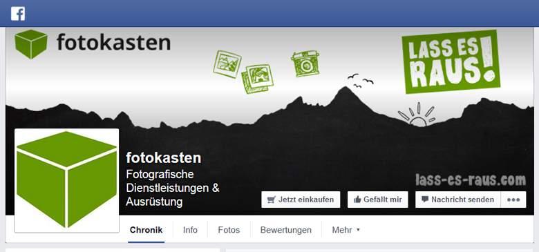 Fotokasten bei Facebook