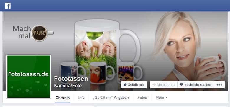 Fototassen.de bei Facebook