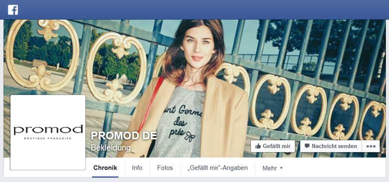Promod bei Facebook