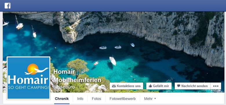 Homair bei Facebook