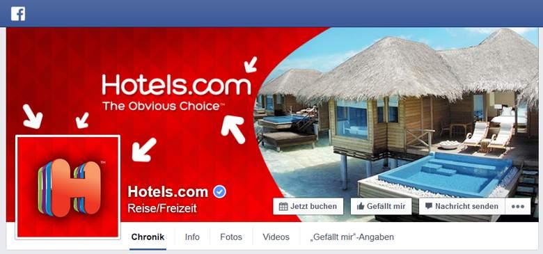 Hotels.com bei Facebook