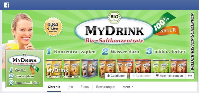 MyDrink bei Facebook
