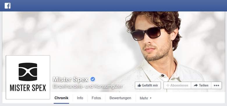 Mister Spex bei Facebook