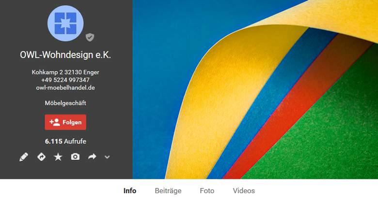 Möbel Galerie bei Google Plus