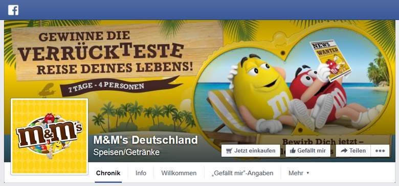 My M&Ms bei Facebook