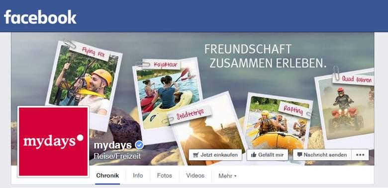 mydays bei Facebook