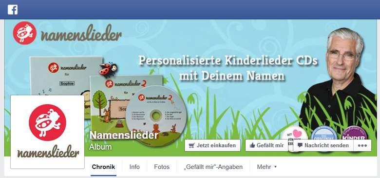 Namenslieder bei Facebook