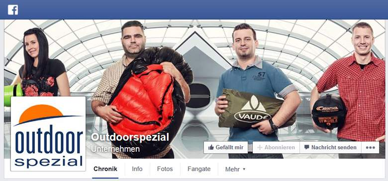 Outdoorspezial bei Facebook