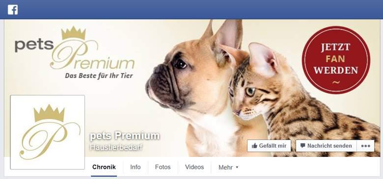 Pets Premium bei Facebook