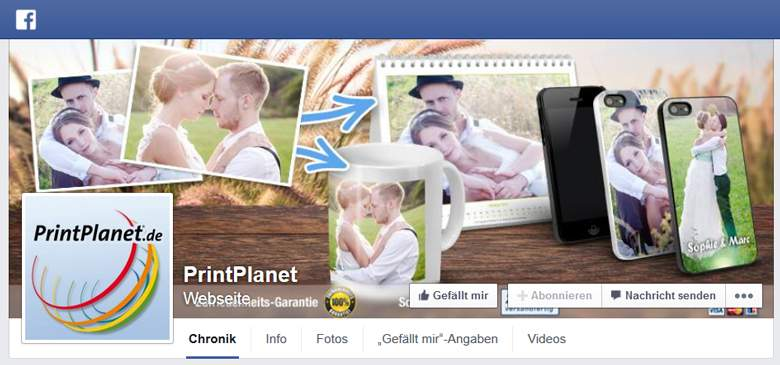 Printplanet bei Facebook