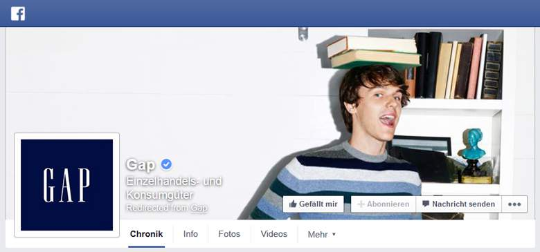 GAP bei Facebook